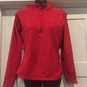 Womens Nike Fleece lined Half Zip Pullover